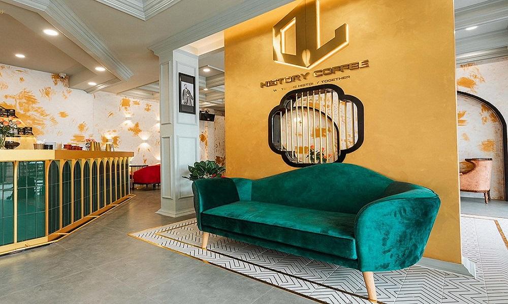 Thiết kế và thi công quán cafe HL History Coffee Đà Lạt
